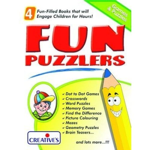 Creative Books - Fun Puzzler- A Set Of 4 Books - Cre0508 Puzzler Educational -  creative books fun cre0508 puzzler set 4 educational puzzlers