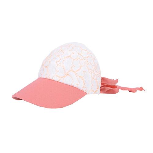 Girls' Beautiful Fashional Visor Sport Hat\Summer SunProof Lace Edge Hat(Orange)