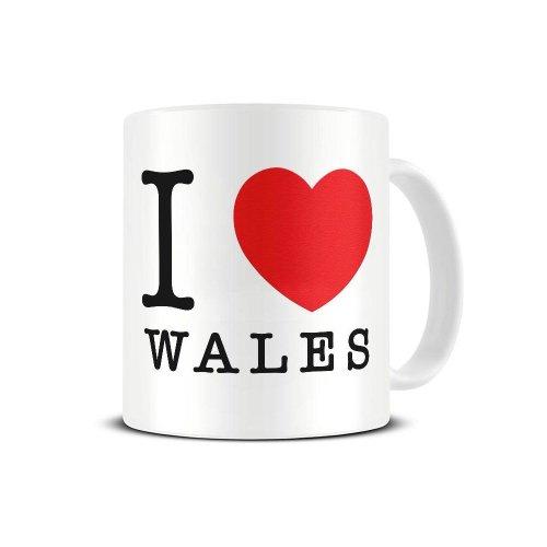 I Love Wales - Heart - Patriotism - Ceramic Coffee Mug - Tea Mug - Great Gift Idea