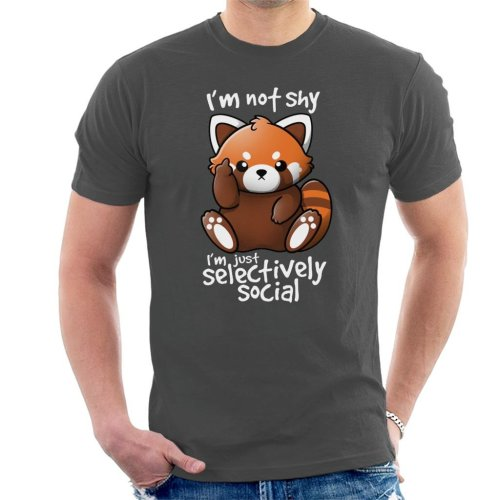 Im Not Shy Red Panda Men's T-Shirt