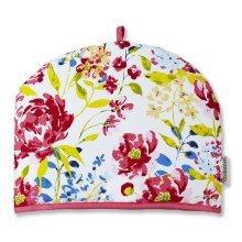 Cooksmart Tea Cosy Teapot Cover Cotton Insulated, FLORAL ROMANCE
