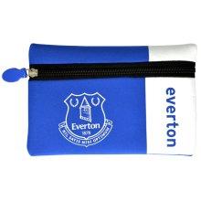 Everton Wordmark Flat Pencil Case - Football Club Official Teams -  pencil case football club everton official teams flatnylonrubberzip school crest