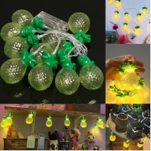 10-LED Pineapple String Lights Party Patio Wedding Christmas Bedroom Decor