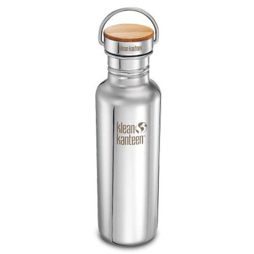 Klean Kanteen Classic Reflect 800ml Bottle + Bamboo Cap (Mirror Finish)