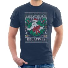 Ghostbusters Relatives Christmas Knit Pattern Men's T-Shirt