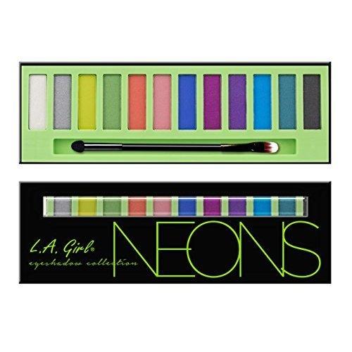 L.A. Girl Beauty Brick Eyeshadow, Neons, 0.42 Ounce