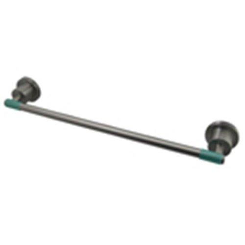 Kingston Brass Ba8212Sndgl Green Eden 18-Inch Towel Bar With Neoprene Sleeve  Satin Nickel