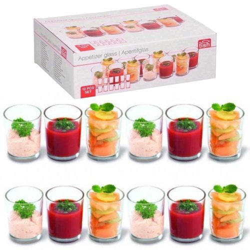Set of 12 Appetizer Mini Glasses