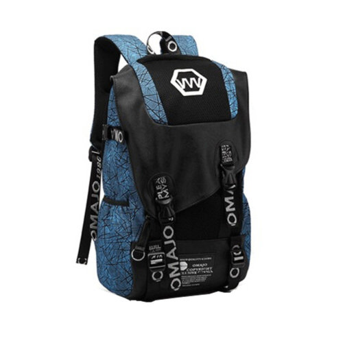 Fashion School Laptop Backpack Lightweight Travel Backpack,canvas blue