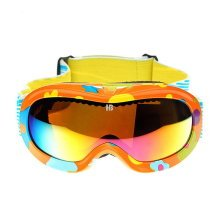 Print Goggles Cute Goggles for Kid Snowboard/Ski/Rollerskate Goggles Orange