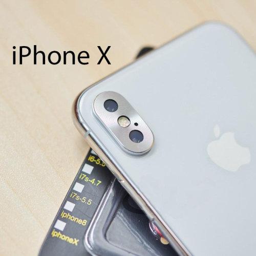 Aluminium Camera Lens Protector Cap For iPhone X in Silver