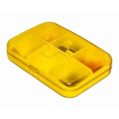 Portable 6 Grids Pill Case Classical Pillbox-Orange