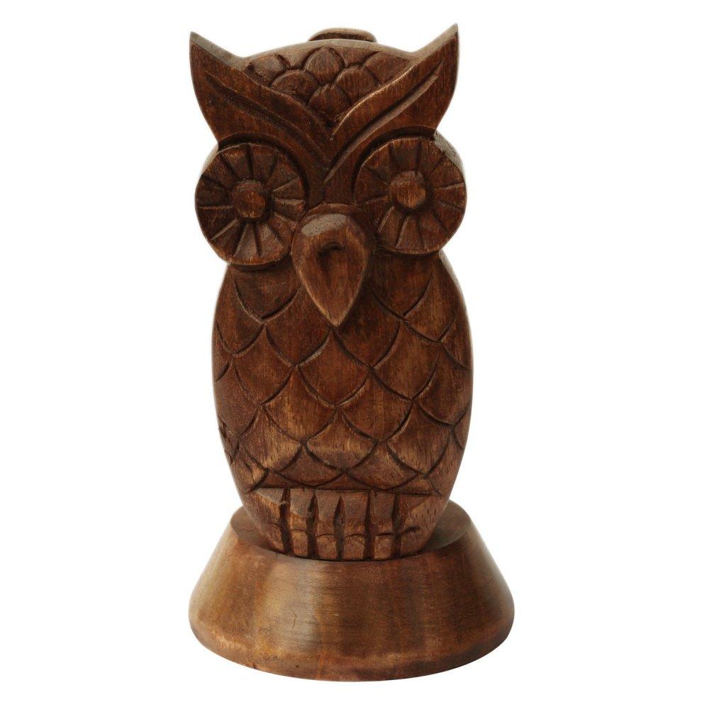 de0b4004afd9 ... Decorative Spectacle Holder Wooden Eyeglass Home Decor Display Stand  Office Desk Decoration (Owl) ...