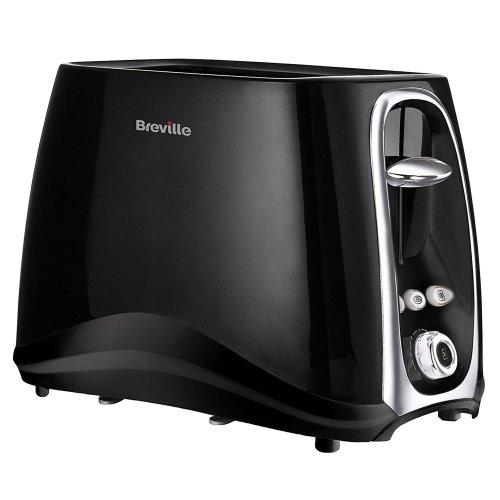 Breville Style 2-Slice Toaster Variable Slot Width Defrost & Cancel VTT361 Black