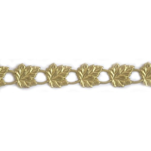 "U-Paint Vintage Brass Deco-Trim-Pierced Leaf Gallery 5/8"""