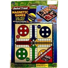 Magnetic Games Ludo, Chess and Checkers