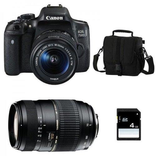 CANON EOS 750D EF-S 18-55mm F3.5-5.6 IS STM + TAMRON AF 70-300mm