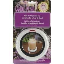 "No Flame Candle Plate 6.5""X7""-"