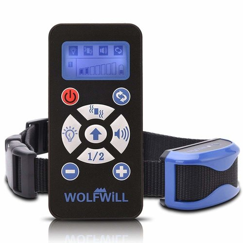 WOLFWILL Waterproof & Rechargeable Auto Anti Bark Remote Dog Training Collar,7 Levels of Pet Trainer with Warning Tones, Vibration, Signal Lights...