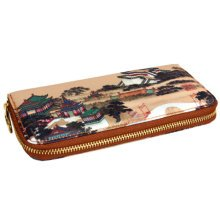 Chinese Style Characteristic Purse Silk Wallet Pouch Bag Perfect Gift, C