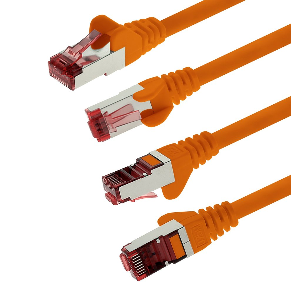 1attack Cat6 Pimf Sstp Network Patch Cable With 2 X Rj45 Connector Wiring Plug Set Double Shielded Pack