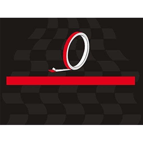 Quattroerre 10009Â Adhesive Strips, Red, Roll 10Â Metres x 5Â mm