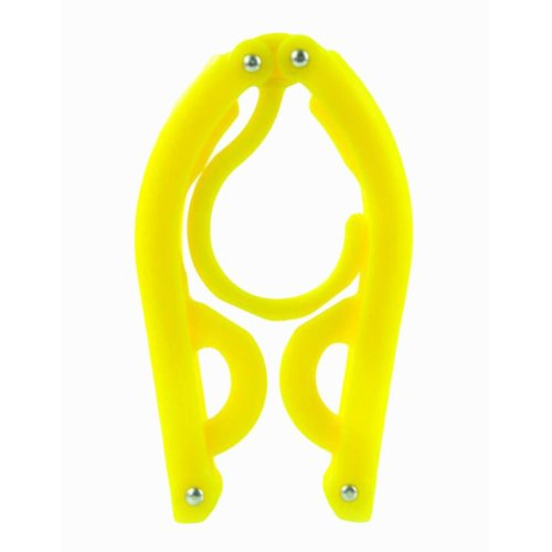 Foldable Stretchable Hanger Easy To Carry For Travel-Yellow