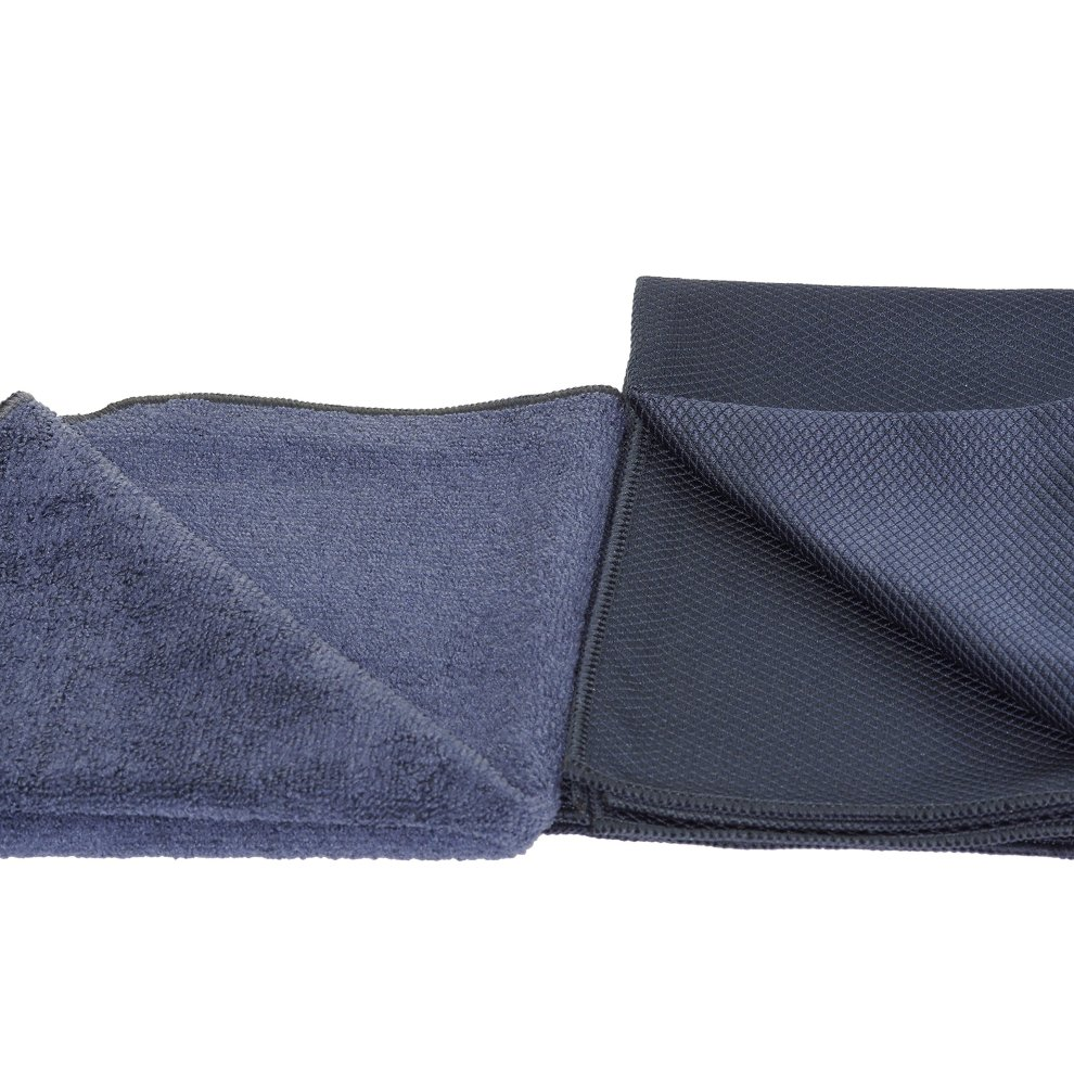 glart 4432K set of 2 microfibre cloths for glass cleaning special fishskin cloth 60 x 40 cm and drying cloth  32 x 32 cm