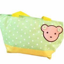 Fashionable High Capacity Lunch Picnic Box/Bento Zipper Bags Bear Green