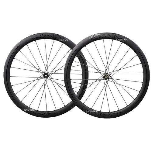 ICAN Carbon Road Bike Wheels AERO 45 Disc