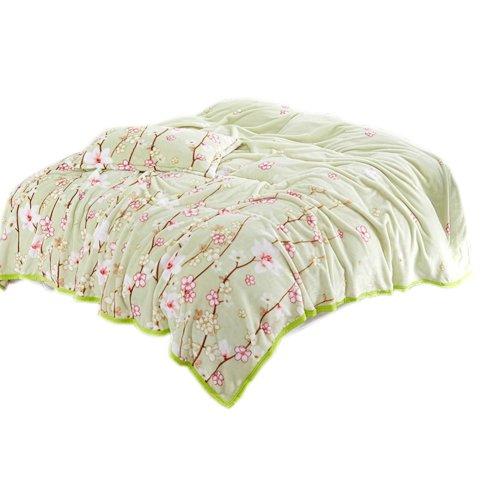 Stripe Home Soft Warm Throw Comfort Blanket,Blue & Pink,59.1x78.7x1 inches #39