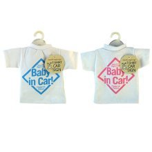 T Shirt Baby in Car Sign Assorted Colours