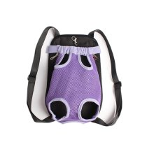 Portable Chest Carrier Backpack Bag for Pets Dogs Purple(Bust 50cm, Up to 15LB)