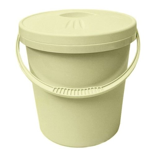Junior Joy Nappy Bucket With Lid - 16 Litre Cream