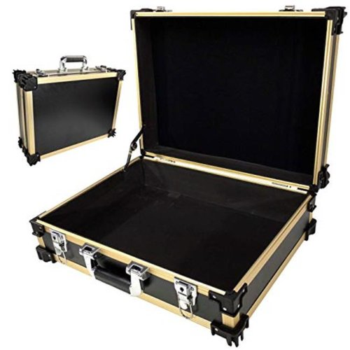 TZ Case STK-218 GBD Stackable Storage & UtilityCase, Gold Black Dot