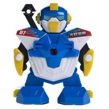 Creative Robot Manual Pencil Sharpener For Classroom 10x11x12.5CM Blue