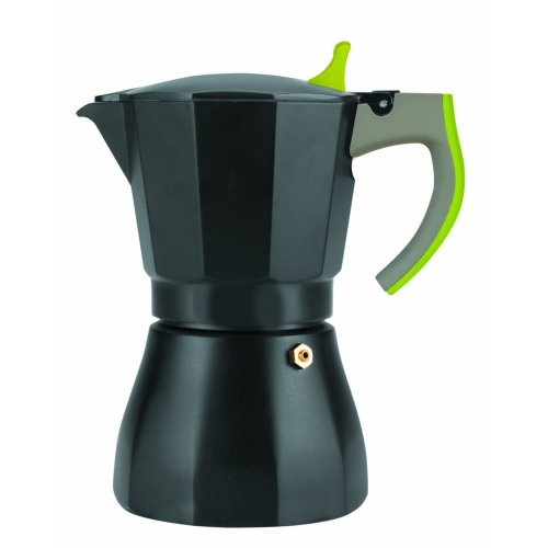 "Ibili ""L'Aroma Espresso Coffee Maker for 9 Cups, Black/Grey/Green"