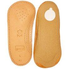 Uk3 Eu36 Woly Unisex Solette Insoles - Ladies Insole Size 3 Comfortable Leather - Woly Solette Ladies Insole Size 3 Comfortable Leather Cushioned