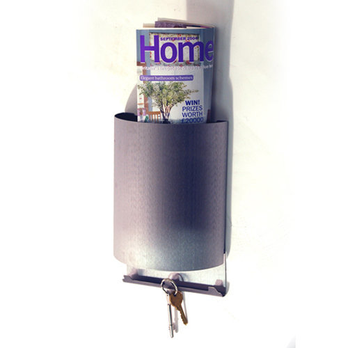 STORE - Stainless Steel Wall Mounted  Hallway Tidy /  Letter / Key Rack