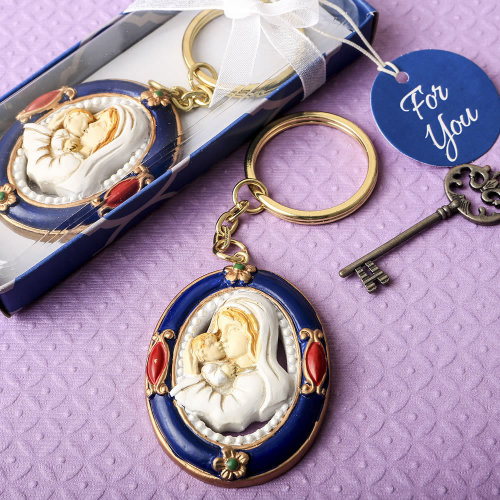 Madonna and Child keychain from Solefavors