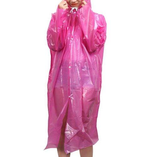Plastic Raincoat Travel Camping Rainwear Emergency Waterproof Disposable 5 Pcs