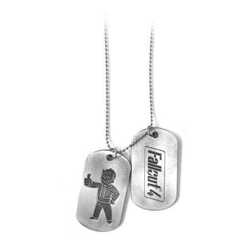 Fallout 4 Unisex Vault Boy Thumbs Up Dogtags One Size - Silver/Metal