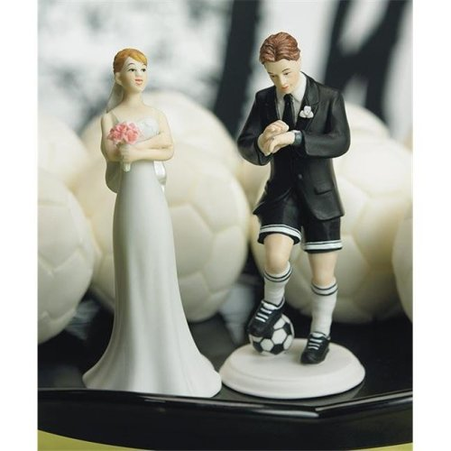 Weddingstar 8447 Soccer Player Groom Mix & Match Cake Topper- Groom Only