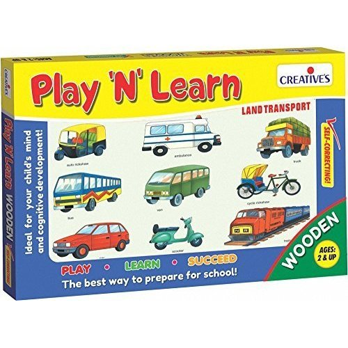 Creative Educational - Play'n' Learn – Land Transport - Play Cre0337 Game -  creative educational play learn land transport cre0337 game