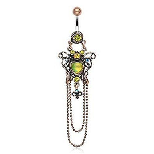 Beautiful Heart Centre Chain Design Vintage Chandelier Belly Bar