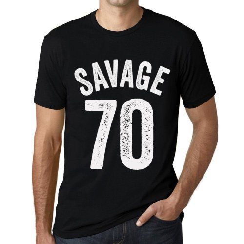 59a4922ef (L) Mens Vintage Tee Shirt Graphic T shirt Savage 70 Black on OnBuy