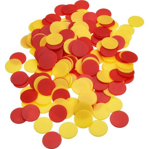 200 Pieces Colored Plastic Counters Counting Chips Bingo Markers with Storage Bag for Math or Games