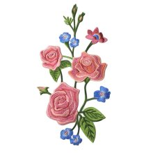 Sew on Appliques Patches Embroidery Applique Peony Appliques Cloth Patches