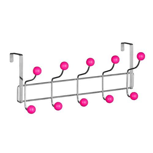 DWD (TM) Hot Pink 10 Hook Over Door Hanger