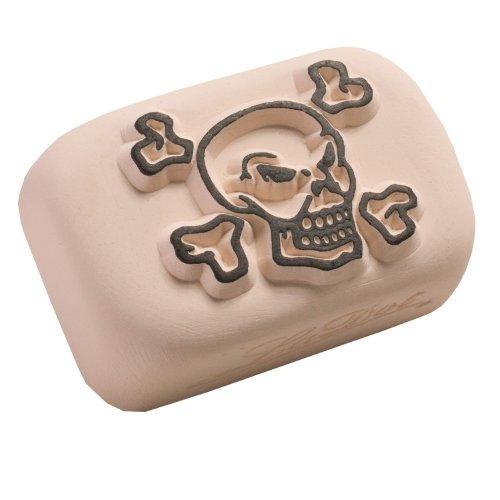 LaDot Temporary Tattoo Stamping Stone, Skull